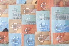 Cuentas euro, dinero Fotos de archivo libres de regalías
