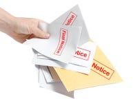 Cuentas finales del aviso Foto de archivo libre de regalías