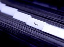 Cuentas ordenadas en tabulaciones de las clasificaciones Fotos de archivo