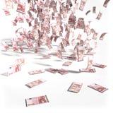 Cuentas a partir de 10 notas euro Imagen de archivo libre de regalías