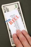 Cuentas y dólares Foto de archivo libre de regalías