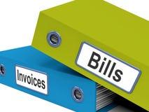 Cuentas y estadísticas de la demostración de los ficheros de las facturas libre illustration