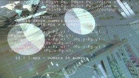 Cuentas y gráficos de papel almacen de metraje de vídeo