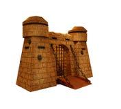 Cuento de hadas antiguo aislado torre medieval de la prisión de la historia de la fortaleza del castillo Fotos de archivo