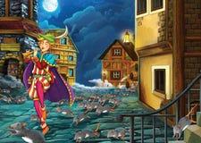 Cuento de hadas de la historieta - ejemplo para los niños stock de ilustración
