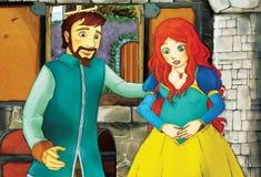 Cuento de hadas de la historieta - ejemplo para los niños Imagen de archivo libre de regalías