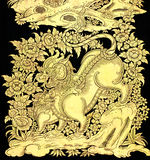 Cuento de hadas leo en arte tailandés tradicional del estilo Imagenes de archivo