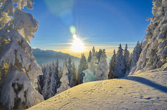 Cuento del invierno en la montaña Imágenes de archivo libres de regalías