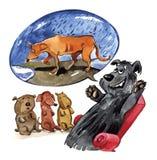 Cuento para los perritos libre illustration