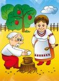 Cuento ucraniano, abuelos Fotos de archivo libres de regalías