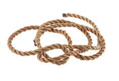 Cuerda aislada en blanco foto de archivo