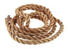 Cuerda aislada en blanco Fotografía de archivo libre de regalías