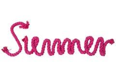 Cuerda aislada en blanco El verano de la palabra escrito por la cuerda roja y libre illustration