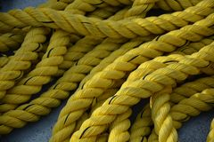 Cuerda amarilla fotografía de archivo libre de regalías