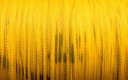 Cuerda amarilla Fotografía de archivo