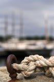 Cuerda anudada náutica fotos de archivo libres de regalías