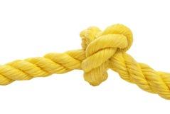 Cuerda atada del nudo Fotografía de archivo