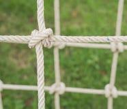 Cuerda atada en un nudo Imagen de archivo