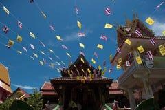 Cuerda, bandera y una bandera de Tailandia Imagen de archivo libre de regalías