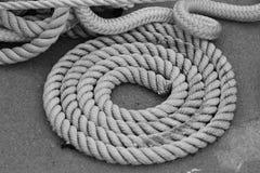 Cuerda blanco y negro Fotografía de archivo libre de regalías