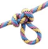 Cuerda con el nudo Foto de archivo libre de regalías