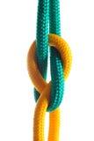Cuerda con el nudo marina Imágenes de archivo libres de regalías