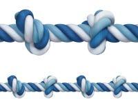 Cuerda con los nudos Imágenes de archivo libres de regalías