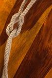 Cuerda con un nudo Imágenes de archivo libres de regalías
