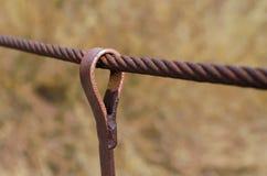 Cuerda de alambre de acero Imagen de archivo