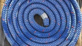 Cuerda de barco en muelle en el Va Fotografía de archivo
