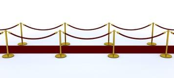 Cuerda de la alfombra roja y del terciopelo stock de ilustración