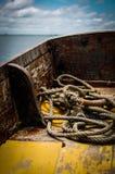 Cuerda de la amarradura Foto de archivo libre de regalías