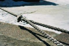 Cuerda de la amarradura Imagen de archivo libre de regalías