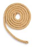 Cuerda de la nave aislada en blanco Fotografía de archivo libre de regalías