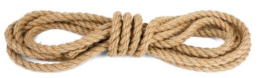 Cuerda de la nave aislada en el fondo blanco Imagen de archivo libre de regalías