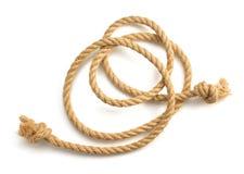 Cuerda de la nave en el fondo blanco Fotografía de archivo libre de regalías