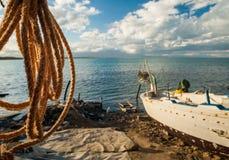 Cuerda de la pesca Fotografía de archivo