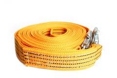 Cuerda de la remolque de cuerda para los coches en un fondo blanco fotos de archivo libres de regalías