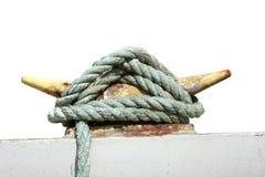 Cuerda de la seguridad de un barco Imagen de archivo