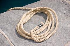 Cuerda de la vela imagen de archivo