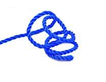 Cuerda de nylon azul foto de archivo