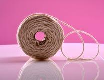 Cuerda de rosca blanca Imágenes de archivo libres de regalías