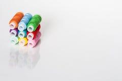 Cuerda de rosca coloreada Fotografía de archivo libre de regalías
