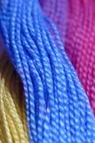Cuerda de rosca colorida Foto de archivo