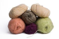 Cuerda de rosca de las lanas fotografía de archivo libre de regalías