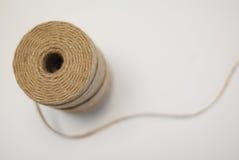Cuerda de rosca de oro Foto de archivo