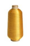 Cuerda de rosca de oro Imagenes de archivo