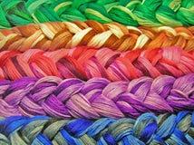 Cuerda de rosca del algodón de la trenza Fotos de archivo libres de regalías