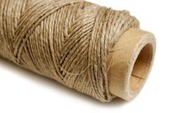 Cuerda de rosca del cáñamo Imágenes de archivo libres de regalías