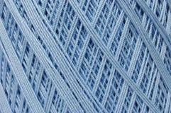Cuerda de rosca del ganchillo - azul de bebé Fotos de archivo